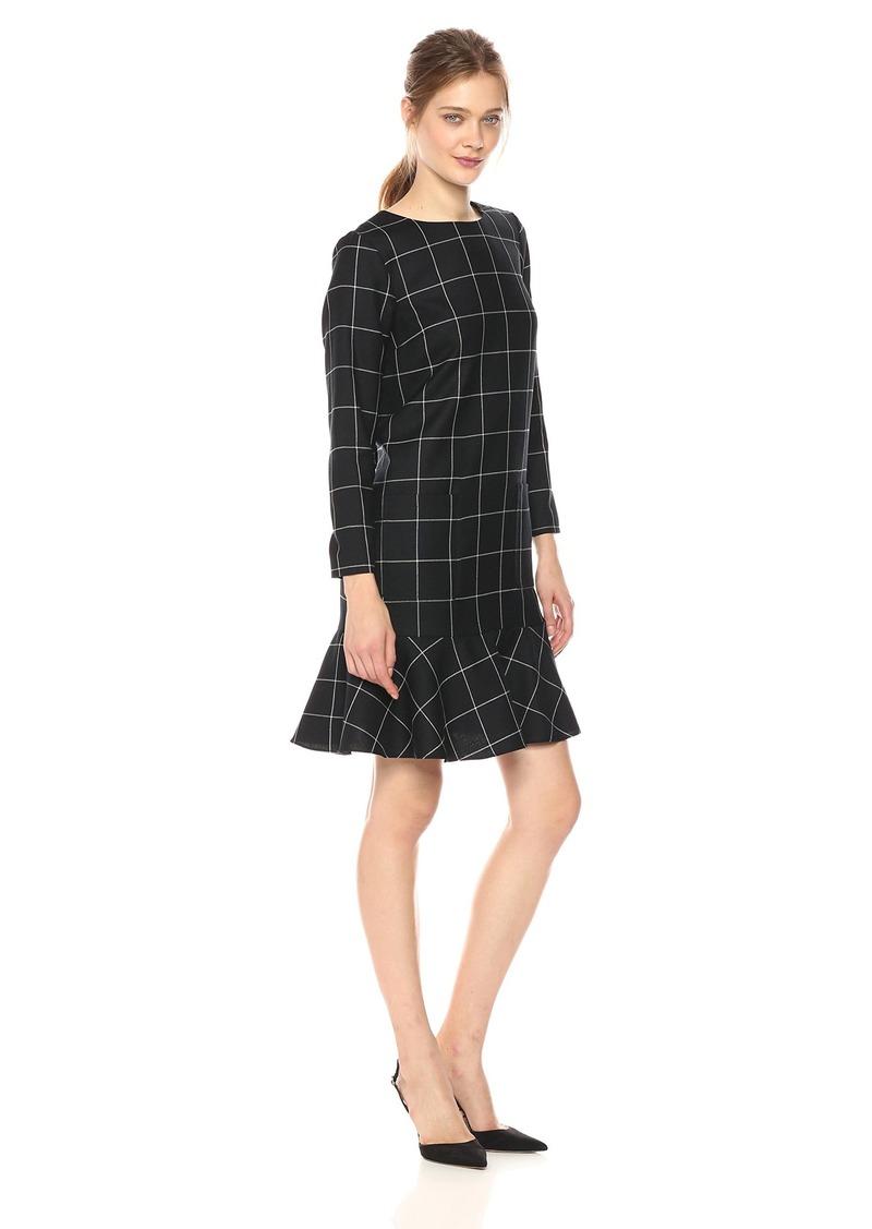 Pendleton Women's Ruffle Hem Wool Dress
