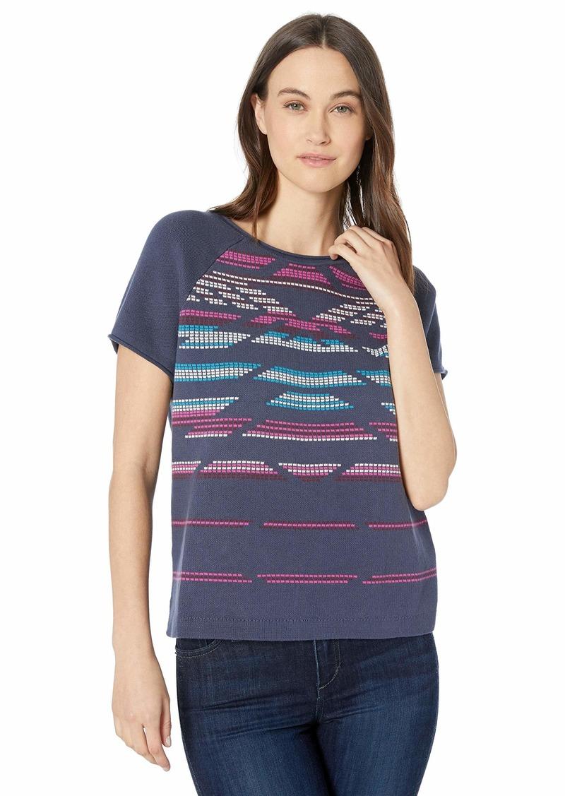 Pendleton Women's Short Sleeve Hero-Glyphic Summer Sweater  XXS