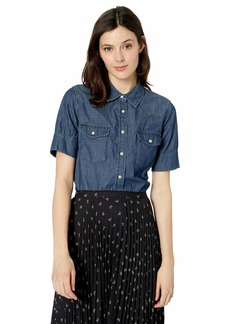 Pendleton Women's Short Sleeve Western Shirt Dark wash SM