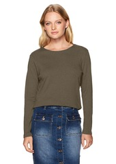 Pendleton Women's Size Long-Sleeve Jewelneck Rib Tee  Petite Medium
