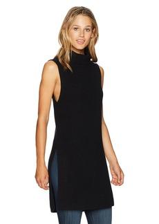 Pendleton Women's Sleeveless Cotton/Cashmere Mock Tunic Sweater  S