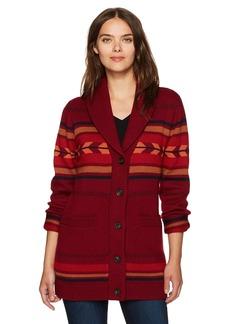 Pendleton Women's Starburst Stripe Merino Wool Cardi Sweater  S