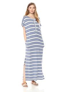 Pendleton Women's Stripe Henley Maxi Dress  LG