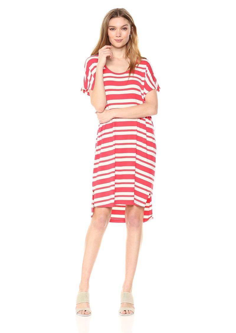 Pendleton Women's Stripe T-Shirt Dress Hibiscus MD