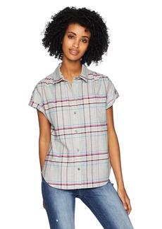 Pendleton Women's Sunnyside Cotton Plaid Shirt Wrought Iron XL