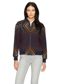 Pendleton Women's Sunrise Wool Jacquard Bomber Jacket  M