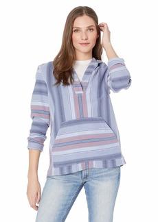 Pendleton Women's Surf Stripe Hooded Pullover Blue/Pink Multi MD