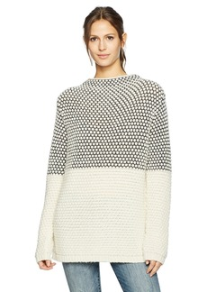 Pendleton Women's Textured Funnel Neck Pullover Sweater  XL