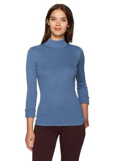 Pendleton Women's Washable Silk/Cotton Rib Mockneck Pullover Sweater  S