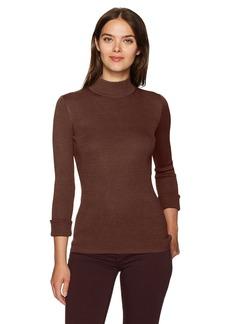 Pendleton Women's Washable Silk/Cotton Rib Mockneck Pullover Sweater  XS