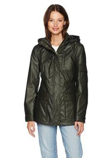 Pendleton Women's Waxed Cotton Hooded Zip Front Jacket  M