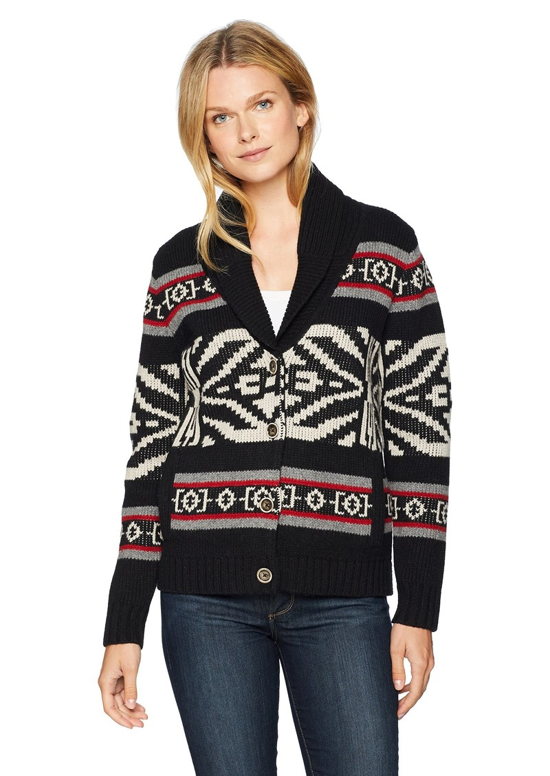 Pendleton Women's Westward Cardigan Sweater Black/red Multi XXS