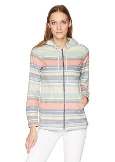 Pendleton Women's Wool Stripe Zip Hoodie  XL