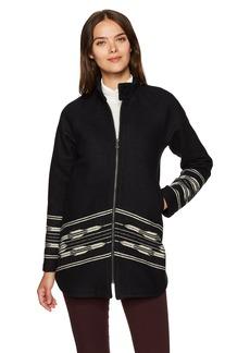 Pendleton Women's Wool Swing Coat with Chimayo Pattern  L
