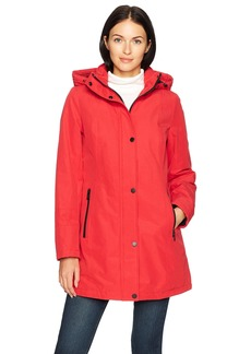 Pendleton Women's Zip Front Hooded Techrain Coat red XS