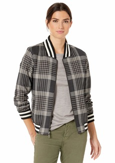 Pendleton Women's Zip Front Plaid Bomber Jacket  LG