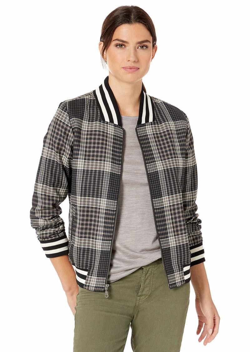 Pendleton Women's Zip Front Plaid Bomber Jacket  LG