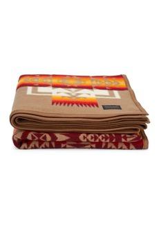 Pendleton Print Wool-Blend Blanket Cape