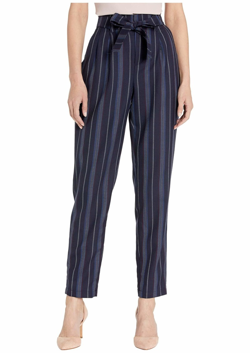 Pendleton Stripe Belted High-Waisted Pants