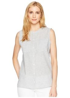Pendleton Stripe Linen Sleeveless Shirt