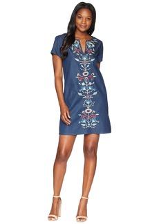 Pendleton Tala Embroidered Cotton Shift Dress