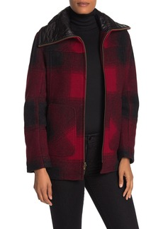 Pendleton Wool Blend Quilted Collar Coat
