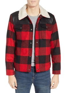 Penfield Flatrock Buffalo Check Jacket with Faux Shearling Collar & Lining