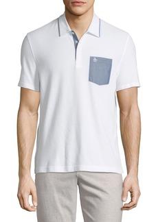 Original Penguin Chambray-Pocket Polo Shirt