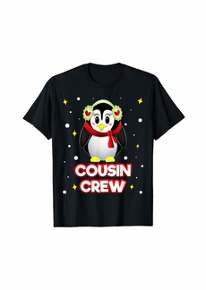 Cousin Crew Penguin Women Christmas Family Matching Holiday T-Shirt
