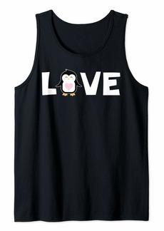 Cute Love Penguin Shirt Zoo Sea Animal Penguins Nature Gift Tank Top
