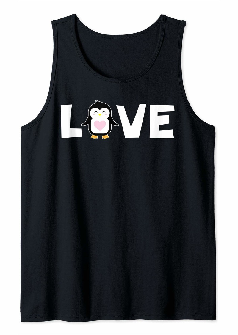 Cute Love Penguin Shirt Zoo Sea Animal Penguins Nature Gift Tank Top