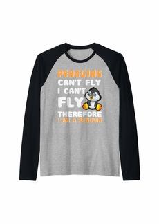 I am a Penguin Shirt - Funny Penguin Kids Raglan Baseball Tee