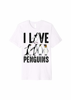 i Love Penguins - Great Gift Tee Premium T-Shirt