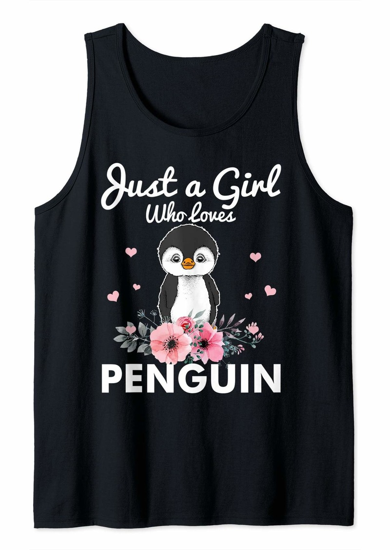 Just A Girl Who Loves Penguin Tank Top