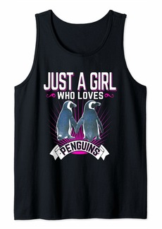 Just a Girl Who Loves Penguins Cute Womens Tank Top