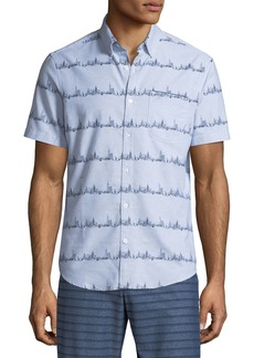 Original Penguin Men's City Stripe Short-Sleeve Shirt