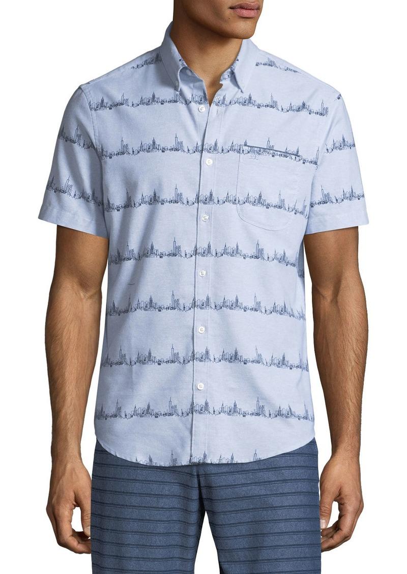 Original Penguin Men's City Stripe Short-Sleeve Shirt