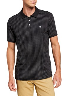 Original Penguin Men's Dobby-Print Polo Shirt