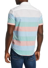 Original Penguin Men's Engineer-Striped Sport Shirt