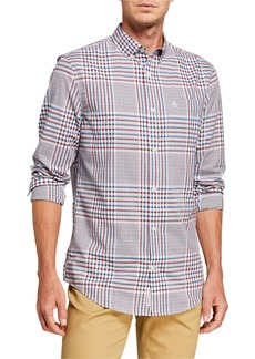 Original Penguin Men's Glen Plaid Sport Shirt
