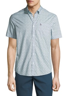 Original Penguin Men's Hand-Drawn Geometric Print Shirt