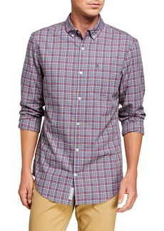 Original Penguin Men's Heathered Plaid Sport Shirt