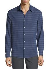 Original Penguin Men's Horizontal Stripe Button-Down Shirt