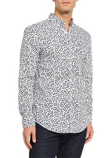 Original Penguin Men's Ivy Leaf Print Long-Sleeve Sport Shirt