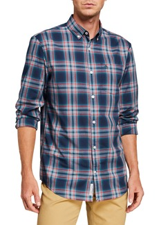 Original Penguin Men's Jaspe Plaid Sport Shirt