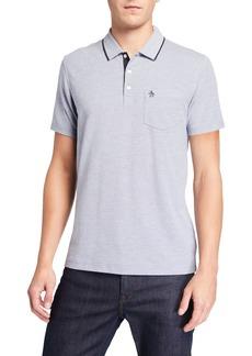 Original Penguin Men's Merl Birdseye Cotton Polo Shirt
