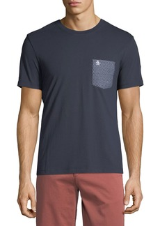 Penguin Men's Oval Printed-Pocket T-Shirt