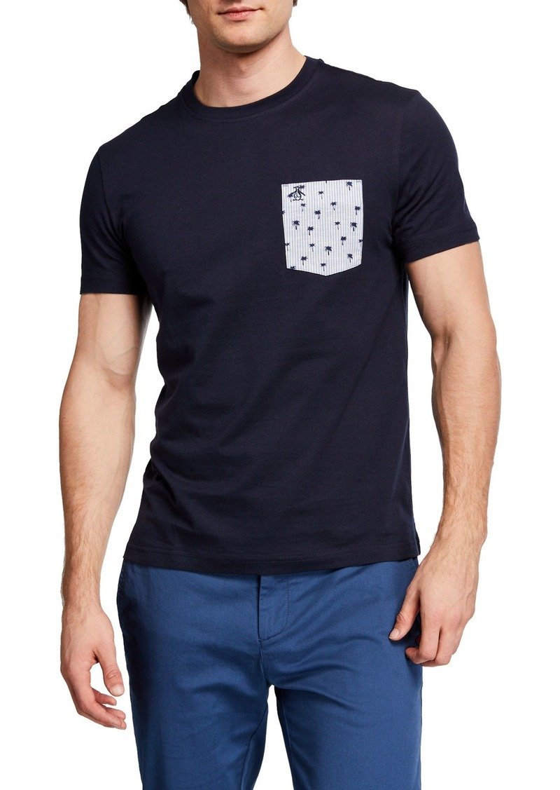 Original Penguin Men's Palm Print Pocket T-Shirt