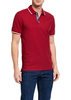 Original Penguin Men's Pique Contrast-Tipped Polo Shirt