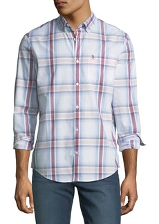 Penguin Men's Plaid Button-Front Sport Shirt